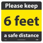 NMC Keep A Safe Distance Walk On Floor Sign