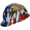 MSA 10052947 American Flag w/2 Eagles Cap